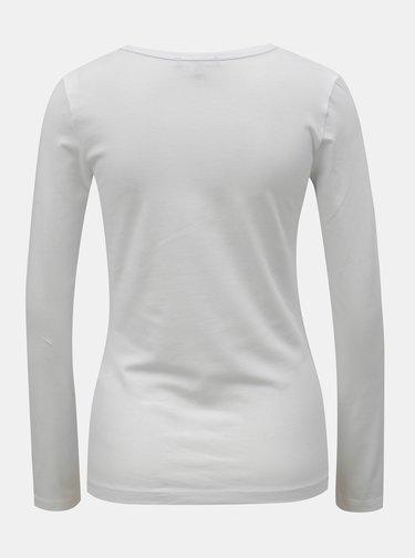 Tricou basic alb cu maneci lungi Yest