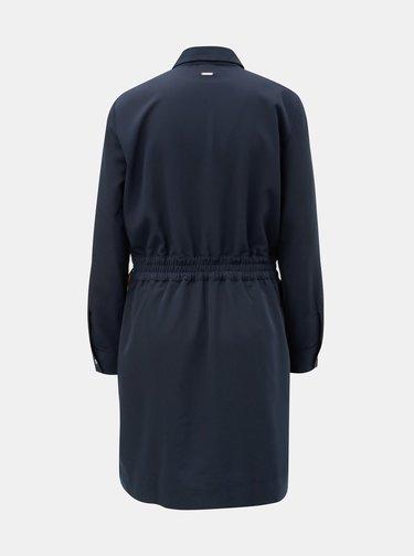 Rochie albastru inchis cu banda elastica in talie Nautica
