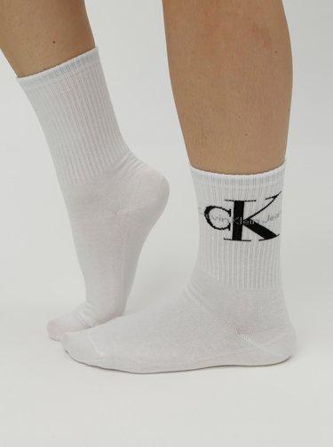 Bílé dámské ponožky s motivem Calvin Klein Jeans