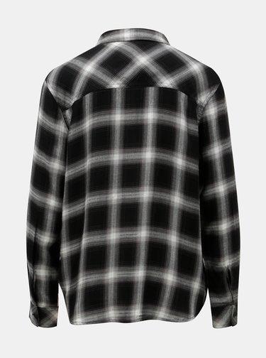 Bílo-černá kostkovaná košile s metalickým vláknem Jacqueline de Yong Frans