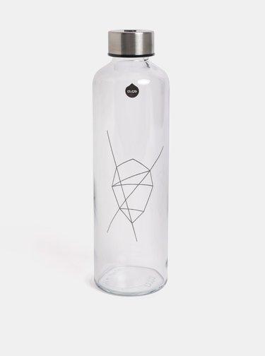 Skleněná lahev s víčkem ve stříbrné barvě EQUA 750 ml