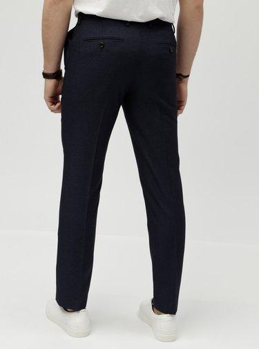 Pantaloni formali albastru inchis slim fit in carouri Burton Menswear London Puppytooth