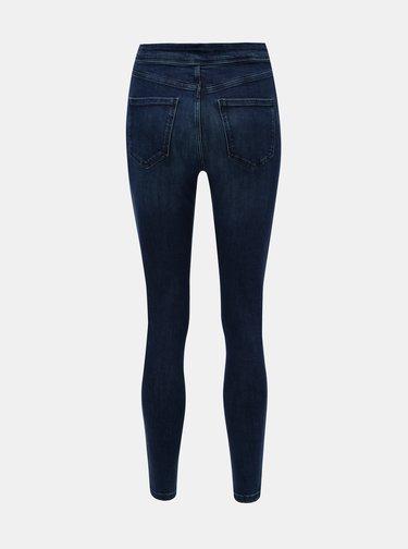 Tmavě modré skinny džíny s vysokým pasem Miss Selfridge
