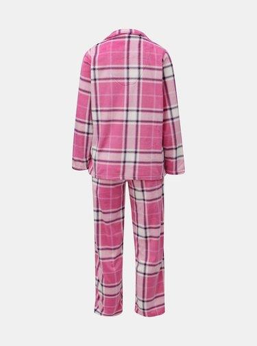 Pijama din 2 piese roz tartan M&Co