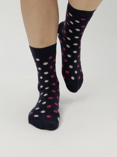Tmavomodré dámske bodkované ponožky ZOOT
