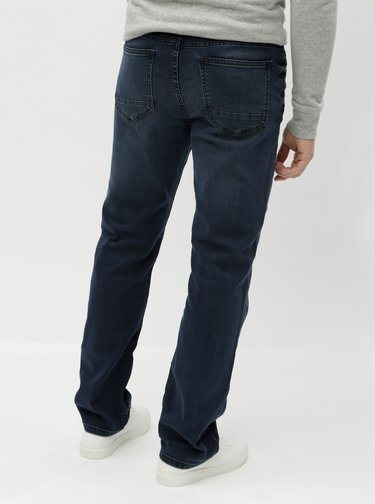 Blugi albastru inchis straight Burton Menswear London Overdye