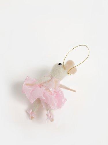 Decoratie de Craciun in forma de soarece balerina Sass & Belle Ballerina Mouse