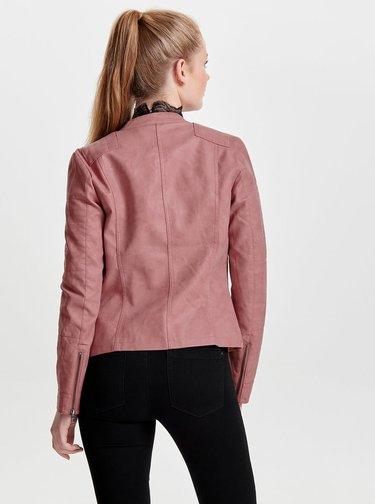 Geaca roz din piele sintetica - Only Ava