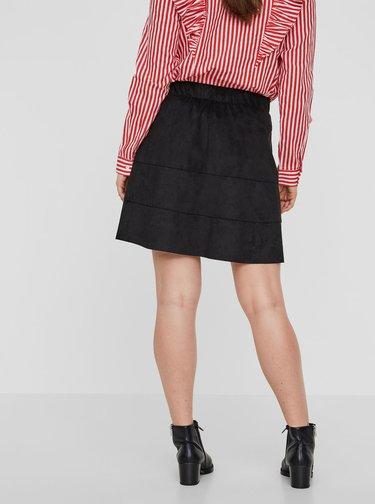 Čierna sukňa v semišovej úprave Noisy May Lauren