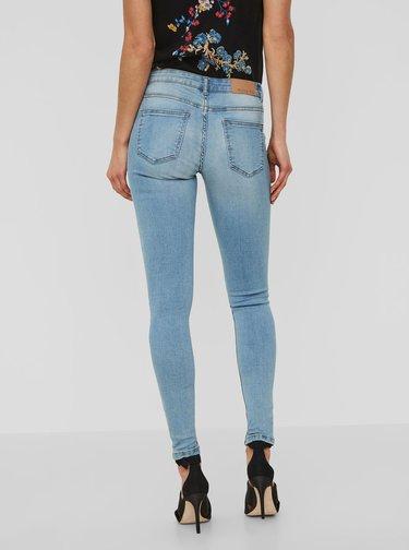 Světle modré super slim fit džíny s nízkým pasem Noisy May Eve