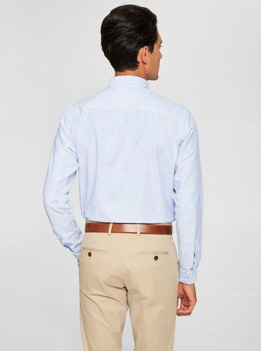 Svetlomodrá pruhovaná košeľa Selected Homme Collect
