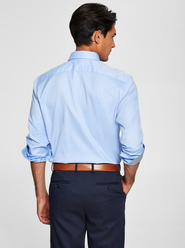 Modrá formálna slim fit košeľa Selected Homme One New
