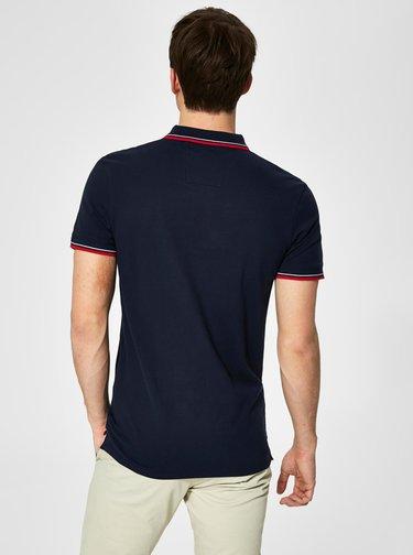 Tmavě modré polo tričko s výšivkou Selected Homme New Season