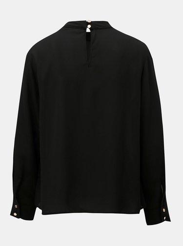 Bluza neagra cu decupaje si guler inalt Dorothy Perkins Petite
