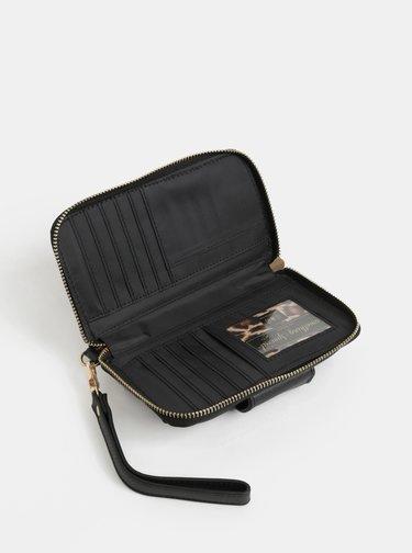 Čierna peňaženka s powerbankou 2000 mAh v darčekovom balení Something Special