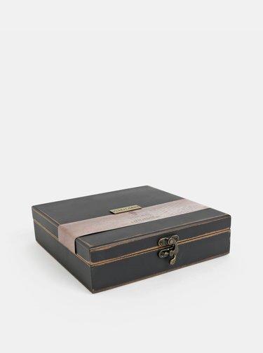 Set cadou de golf cu placuta, mingi și cleste într-o cutie de lemn Something Special