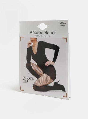 Čierne silonky so sieťovaným detailom Andrea Bucci Opaque With Net 60 NET