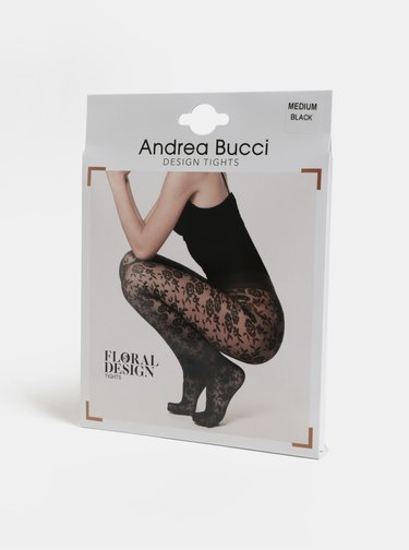 Čierne kvetované silonky Andrea Bucci Floral Design