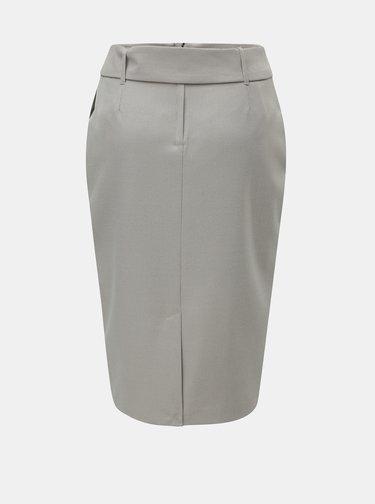 Sivá kockovaná puzdrová sukňa s opaskom Dorothy Perkins
