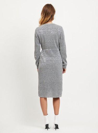 Rochie cu paiete argintii VILA Lorana