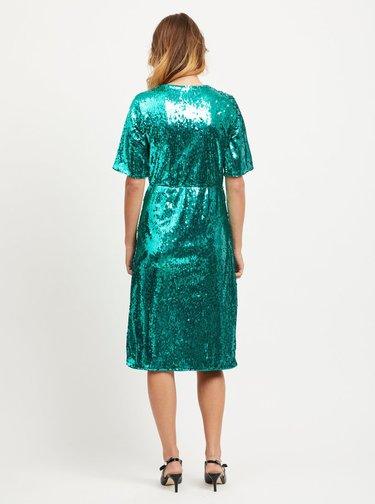 Zelené šaty s flitry VILA Lilja