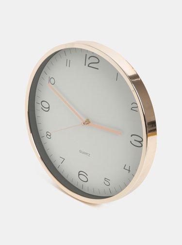 Nástenné hodiny v zlatej farbe Kaemingk