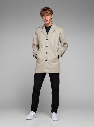 Béžový kabát s vreckami Jack & Jones New David