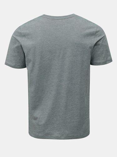 Zelené melírované basic tričko Selected Homme Perfect