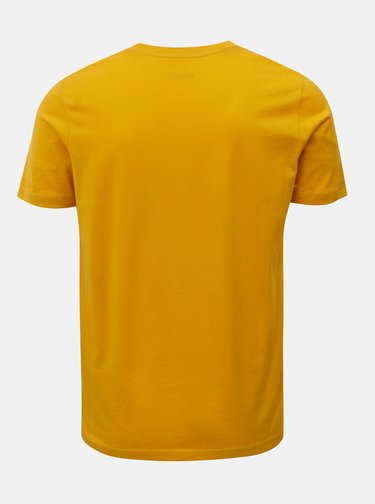 Tricou basic galben cu maneci scurte Selected Homme Perfect