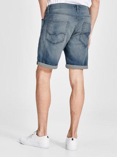 Pantaloni scurti din denim regular fit albastru cu terminatie rasucita - Jack & Jones Rick