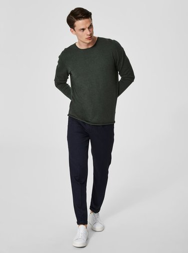 Pulover verde inchis Selected Homme Dome