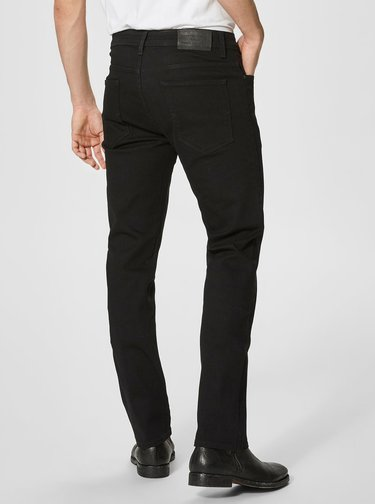 Čierne straight fit rifle Selected Homme Scott