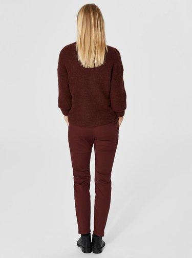 Pulover bordo cu amestec de lana Selected Femme Regina
