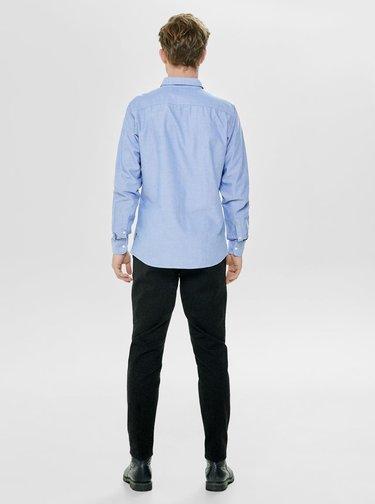 Svetlomodrá slim košeľa s náprsným vreckom ONLY & SONS Alvaro