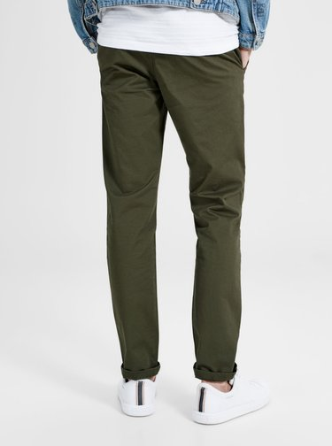 Pantaloni chino slim fit kaki - Jack & Jones Marco