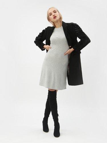 Svetlosivé svetrové šaty Dorothy Perkins
