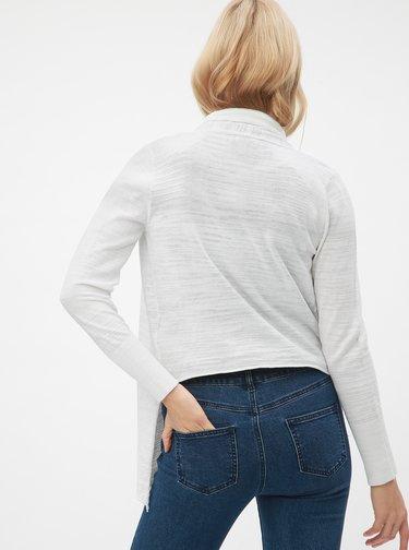 Cardigan alb cu snururi laterale DKNY