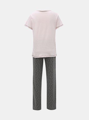 Sivo–ružové dvojdielne pyžamo s motívom koaly Dorothy Perkins