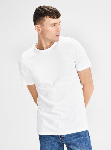 Súprava dvoch bielych basic tričiek s krátkym rukávom Jack & Jones Basic