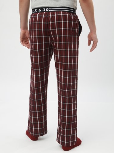 Pantaloni de pijama bordo tartan Jack & Jones