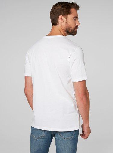 Bílé pánské regular fit tričko s výšivkou HELLY HANSEN