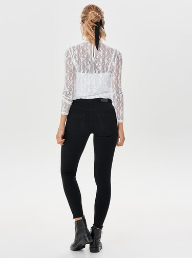 Černé skinny fit džíny s nízkým pasem ONLY Blush