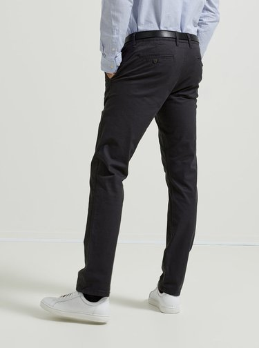 Pantaloni chino gri inchis Selected Homme
