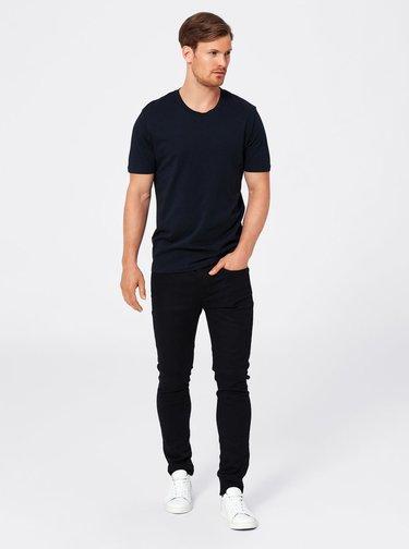 Tmavomodré basic tričko Selected Homme The Perfect