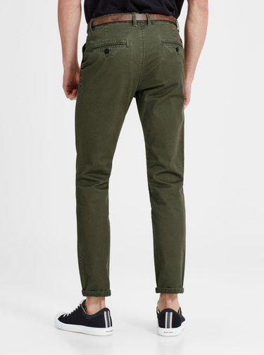 Zelené chino nohavice Jack & Jones Cody