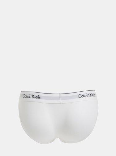 Chiloti albi cu terminatie lata Calvin Klein Underwear
