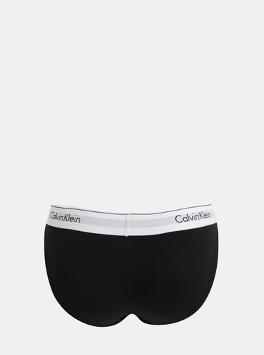 Chiloti negri cu terminatie lata Calvin Klein Underwear