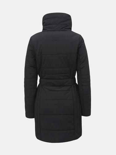 Čierny dámsky nepremokavý zimný kabát so zaväzovaním LOAP Tudora