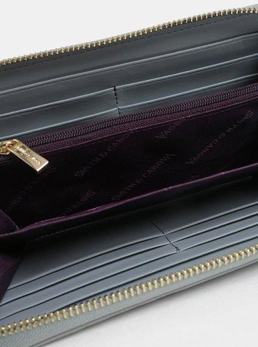Černo-šedá kožená peněženka Smith & Canova