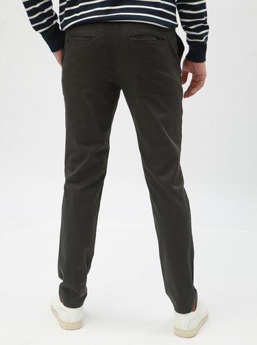 Kaki vzorované chino slim nohavice Selected Homme Yard